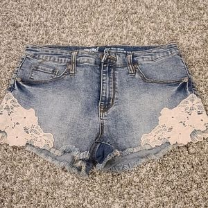 Mossimo High Rise Flower Detail Shorts